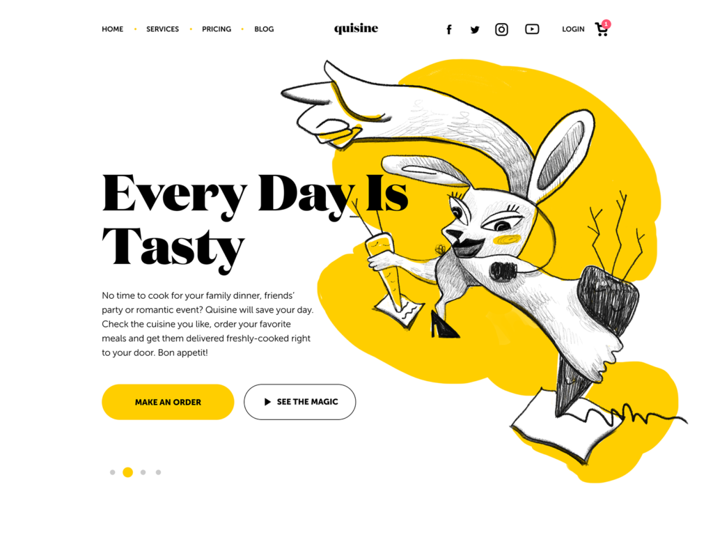 food delivery service website