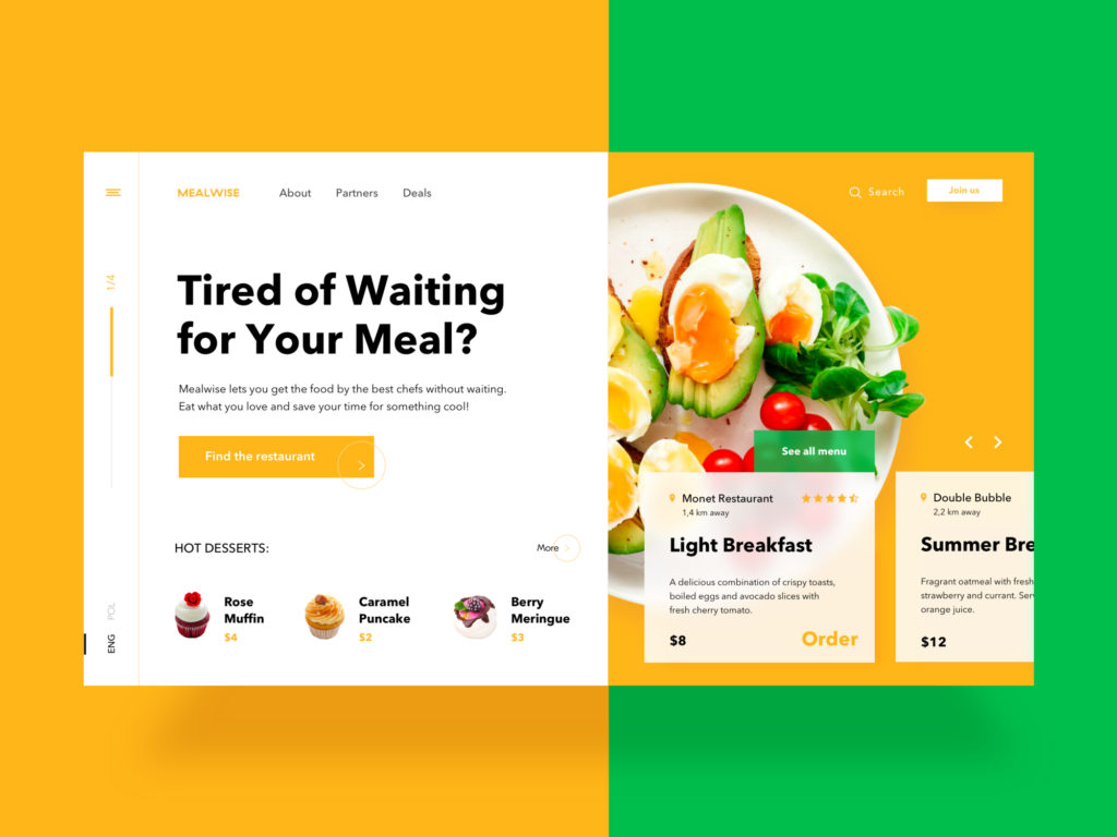 food order website design
