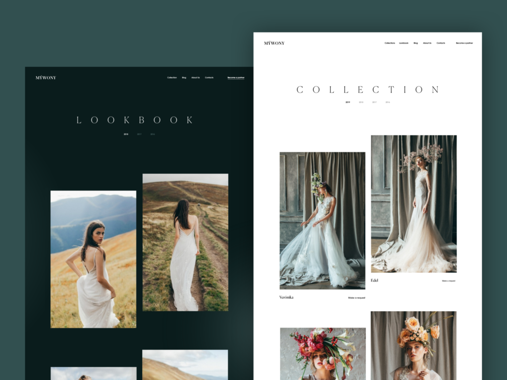webdesign wedding dresses