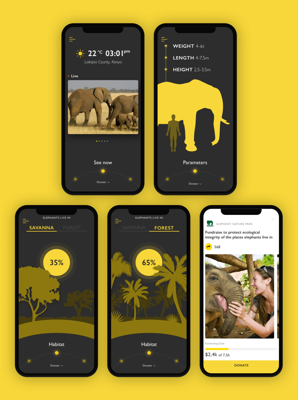 nature encyclopedia app design
