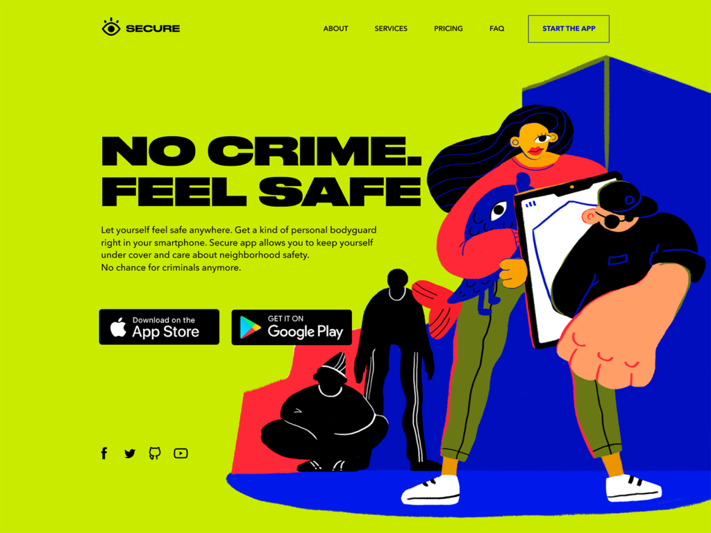 security app landing page