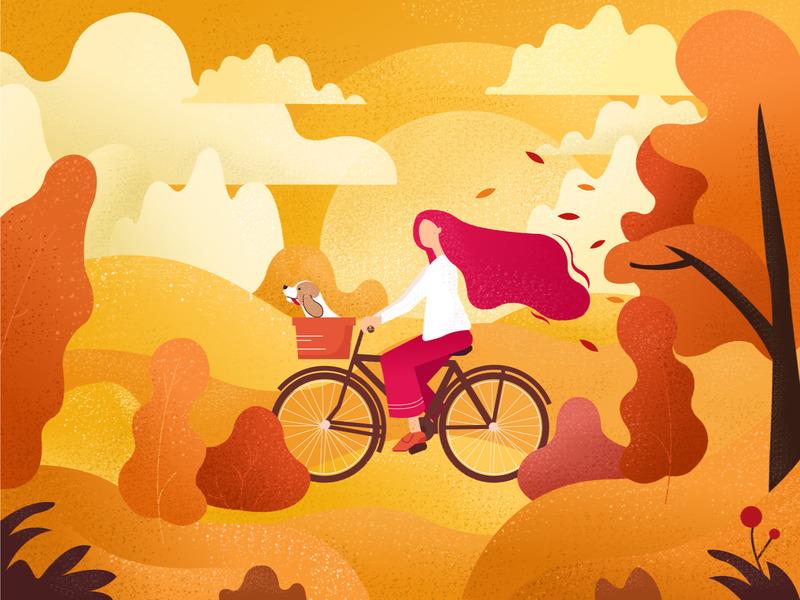 autumn art illustrations