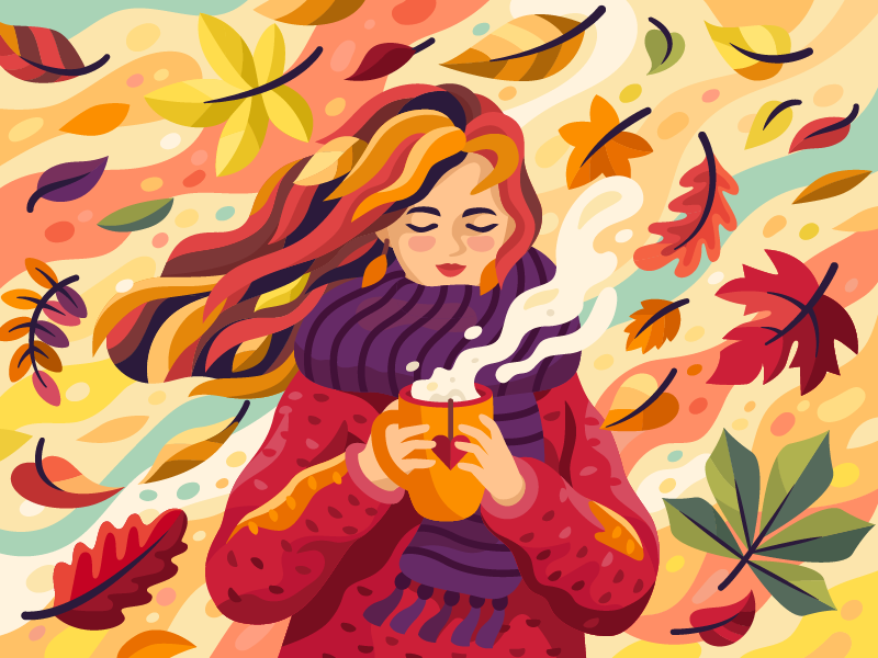 autumn girl art