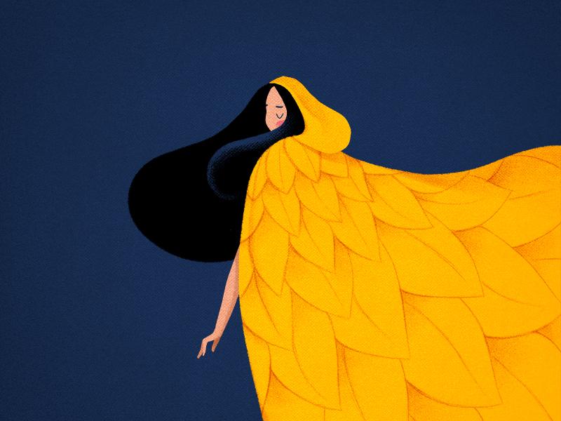 autumn girl illustration