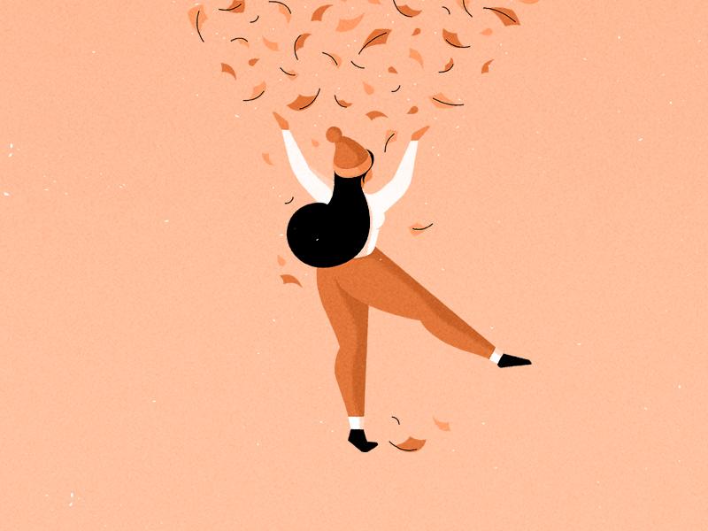 autumn graphic art