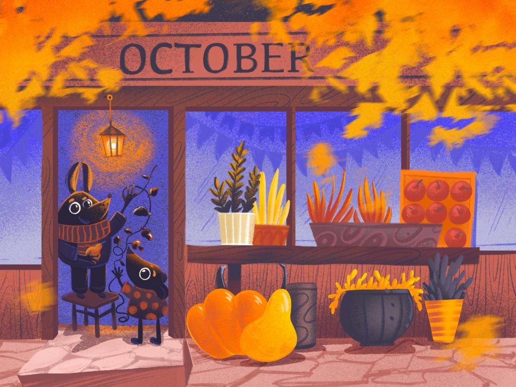 autumn illustration art