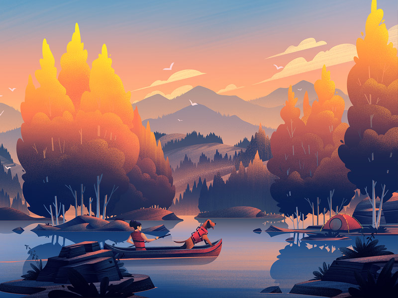 autumn illustration design