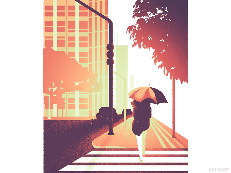 autumn morning illustration