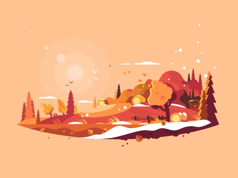 autumn art illustration