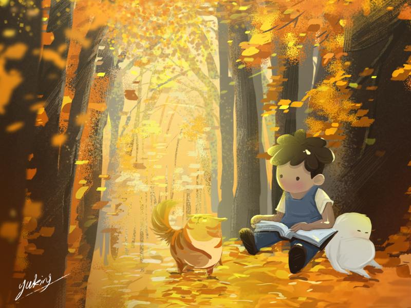 fall illustration art