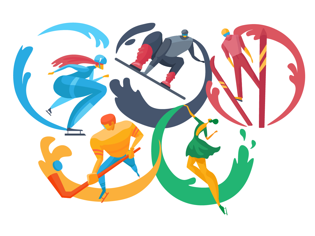 olympic games illustration