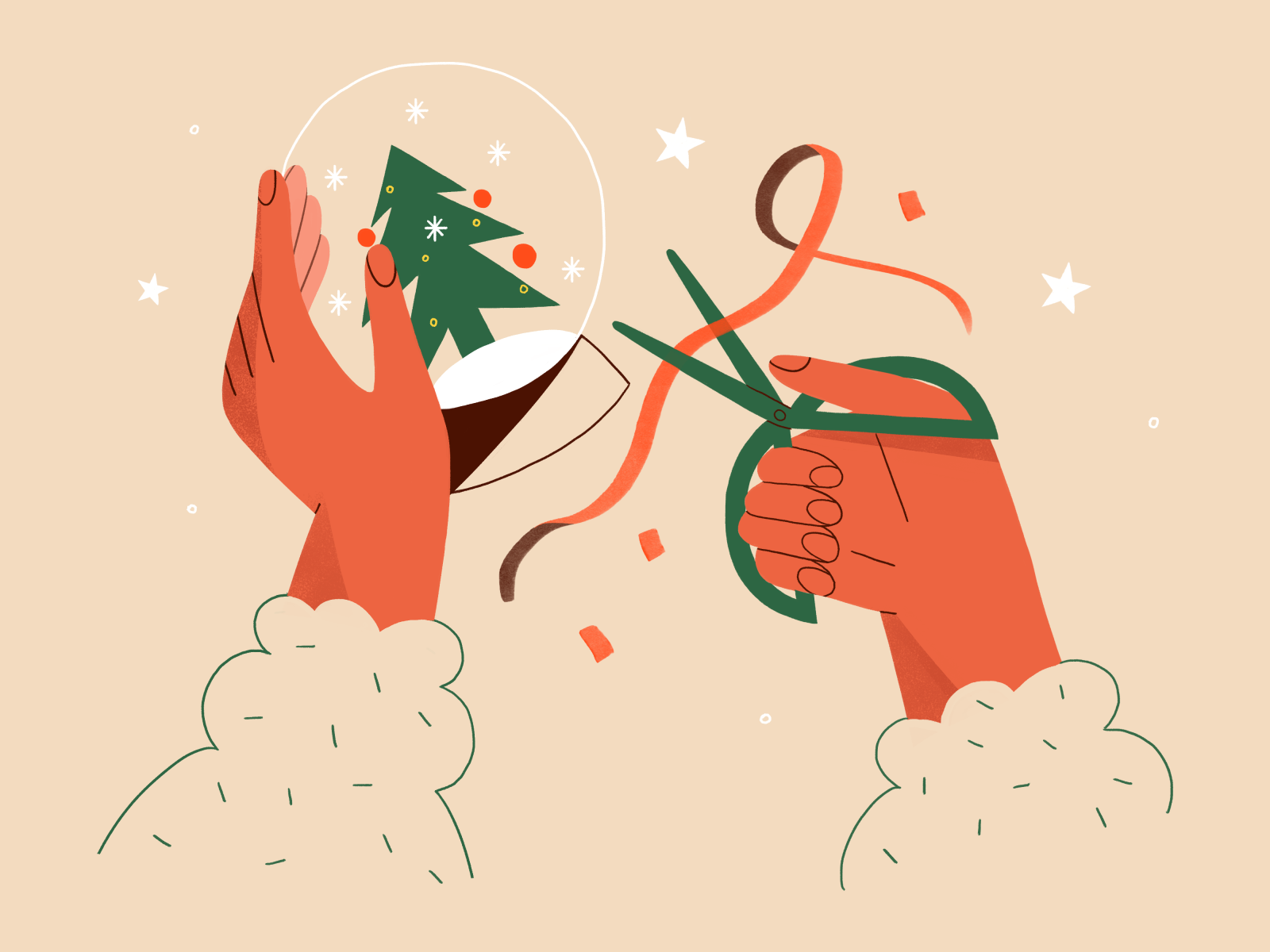 christmas crafts illustration