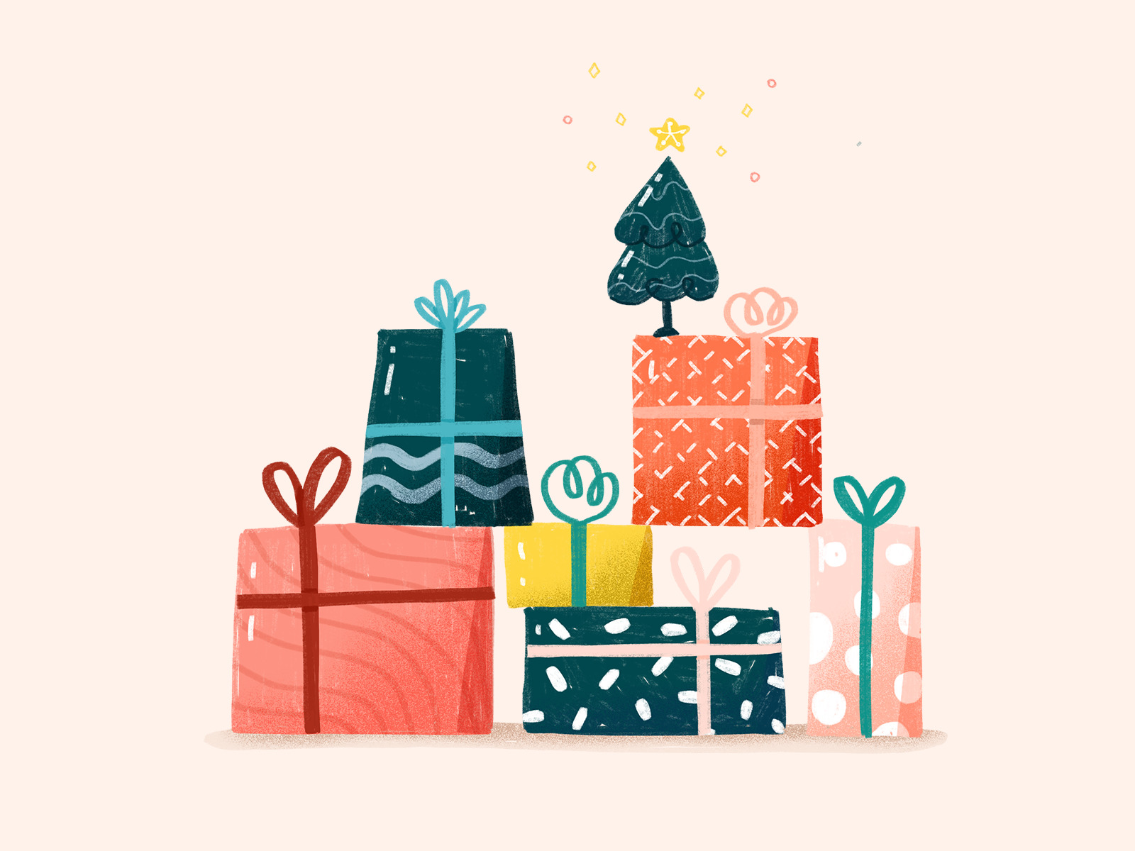 christmas presents illustration