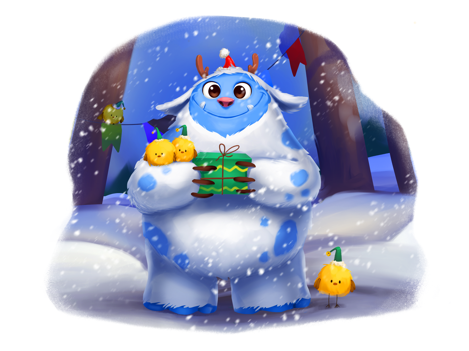 christmas winter illustration