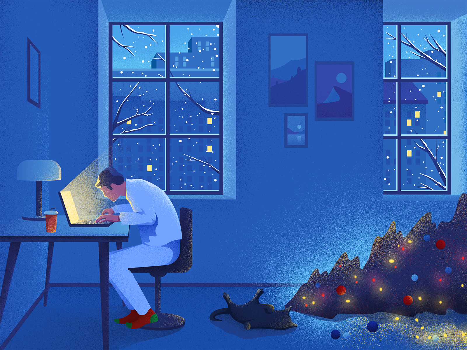 new year christmas illustration