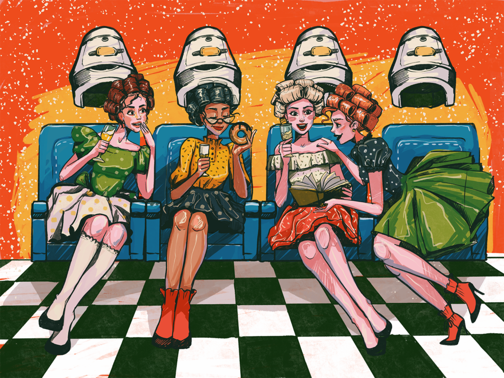 party girls illustration