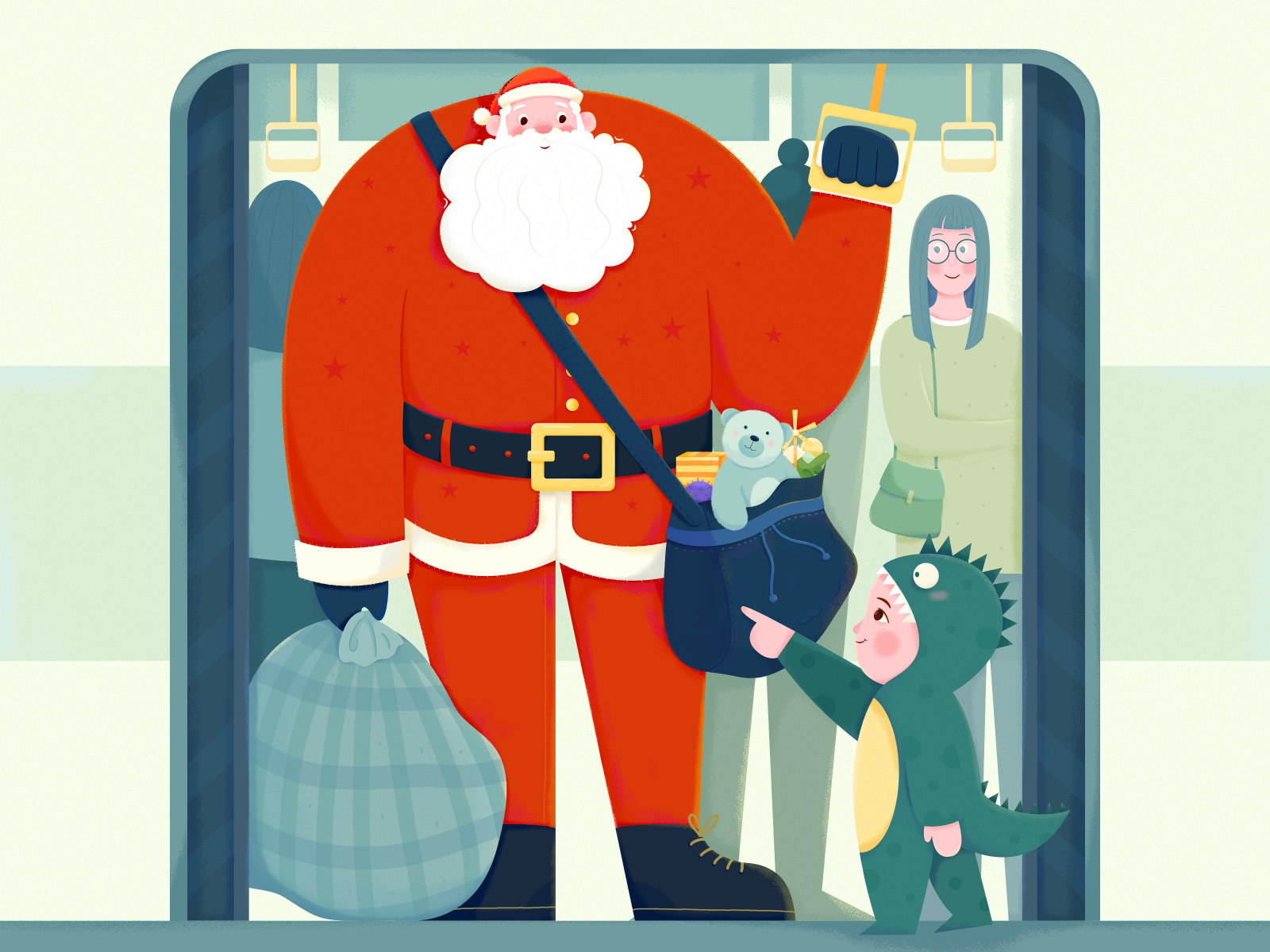 santa christmas illustration