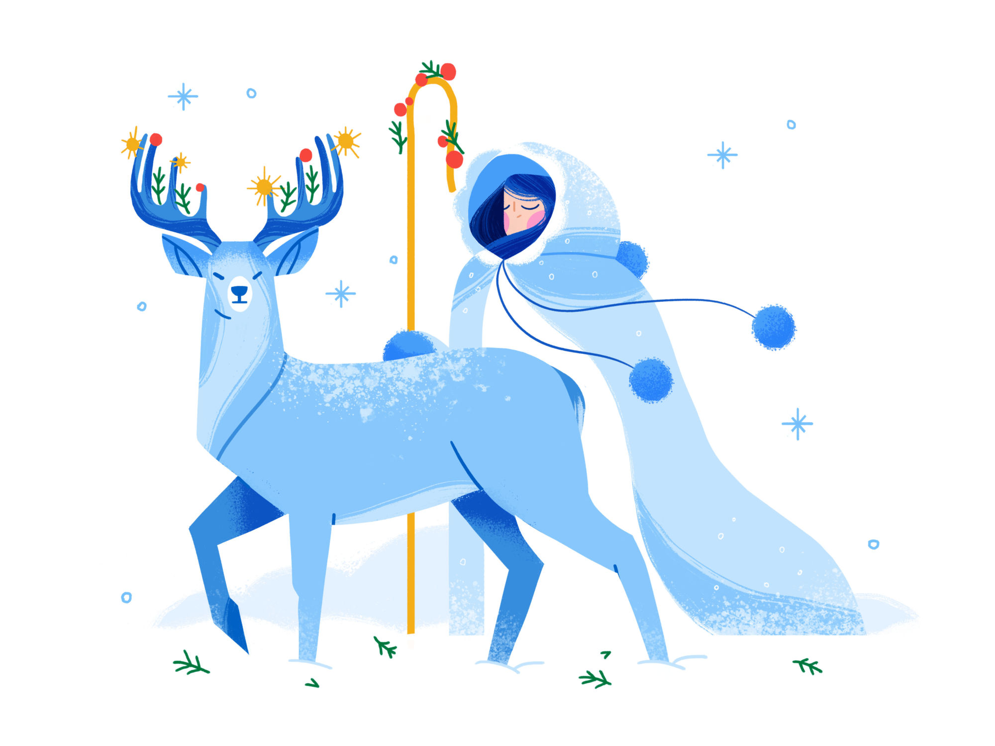 Winter Wonderland: New 40+ Illustrations of Christmas and Winter