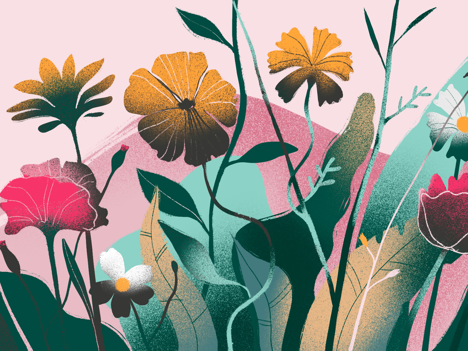 flowers harmony illustration