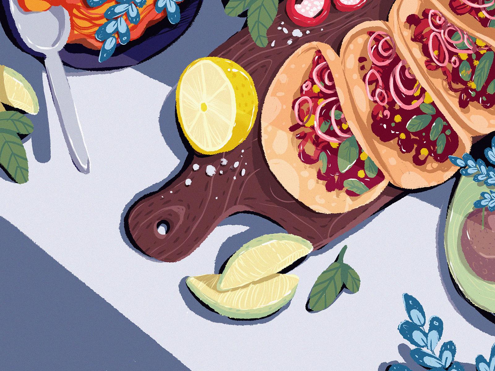 mexican food illustration tubikarts