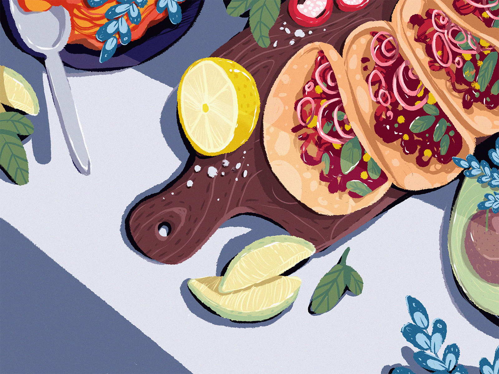 mexican food illustration tubikarts