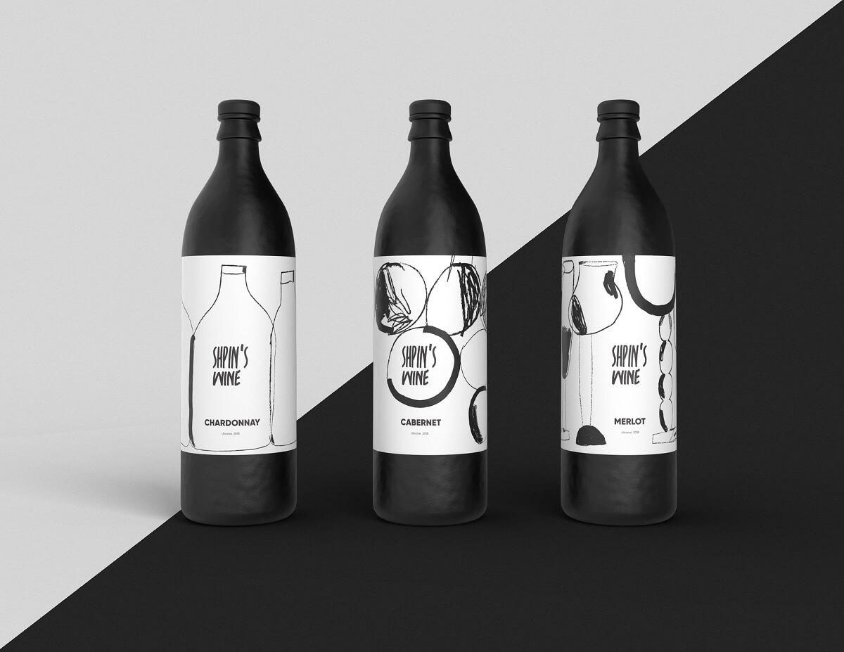 wine brand design bottles