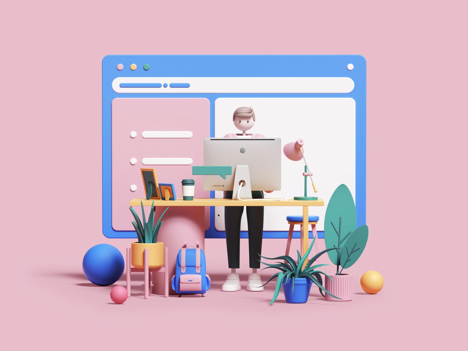 3d art digital illustration