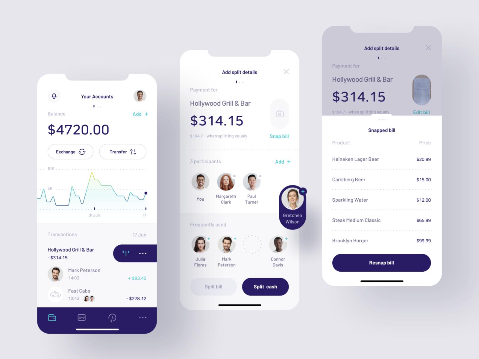 bill app design