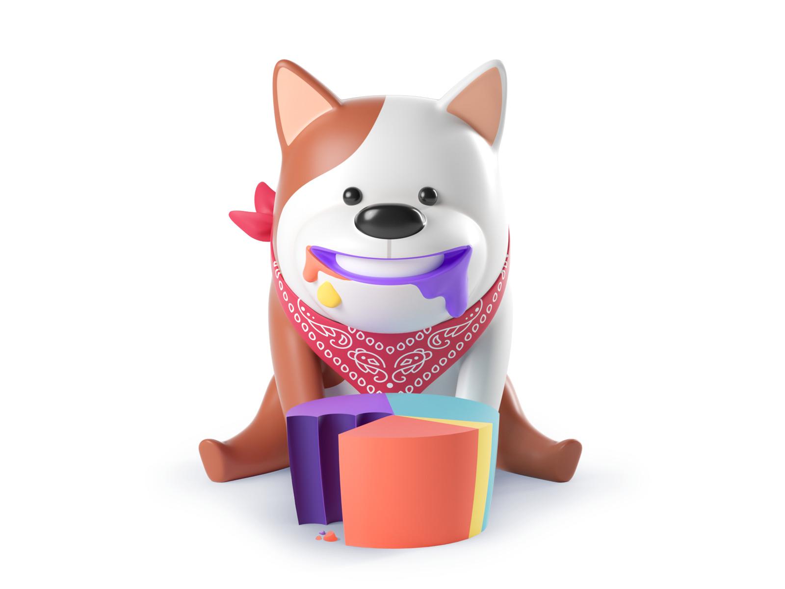 3d dog illustration