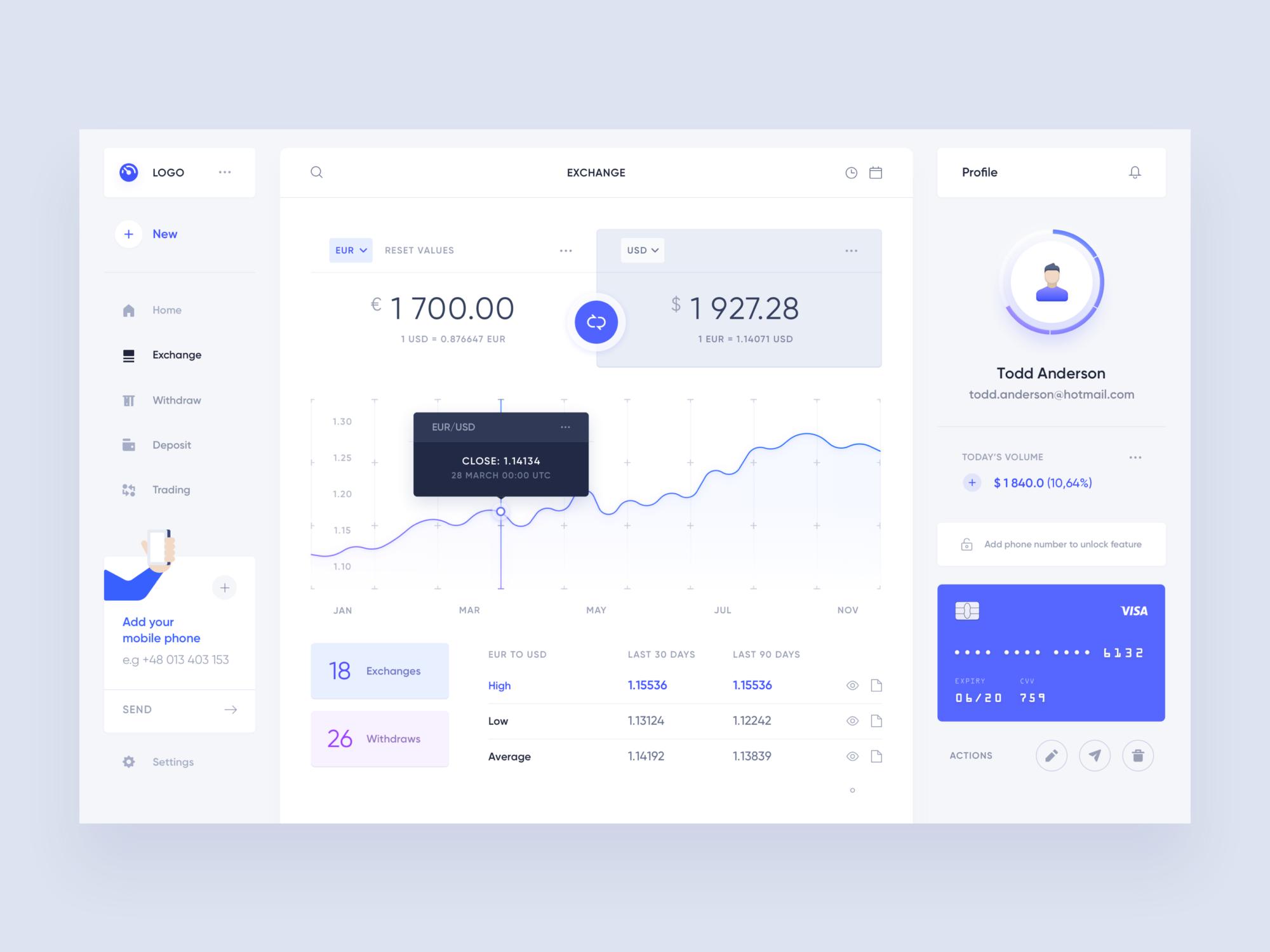 enchange app design