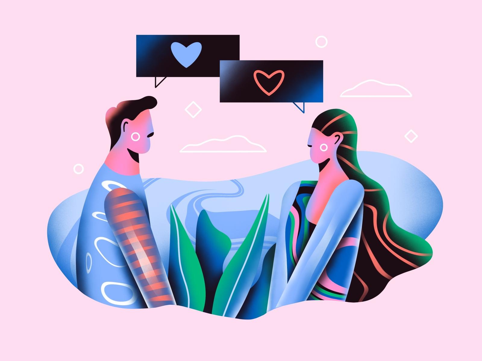 love digital illustration