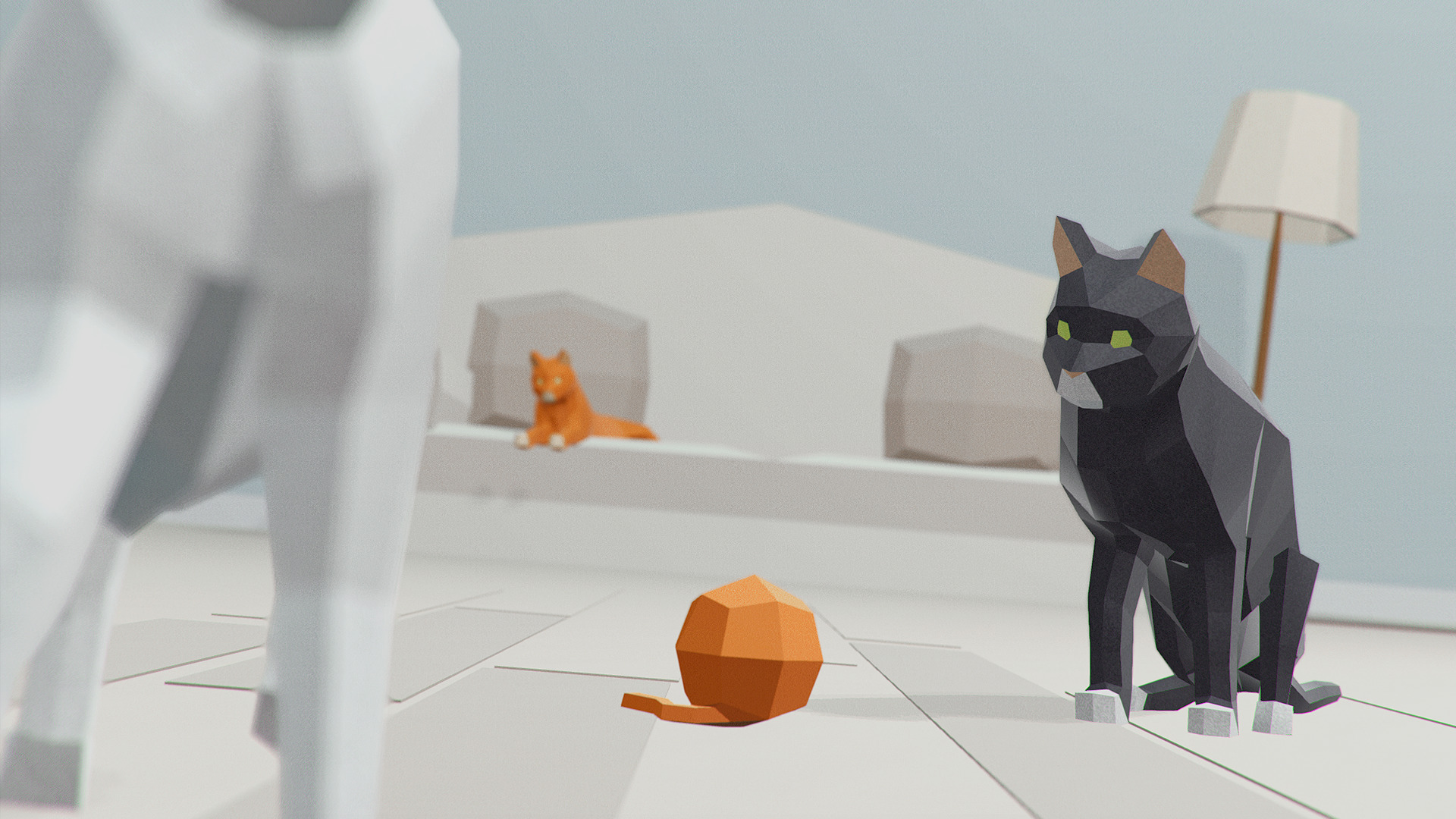 low poly animals cow