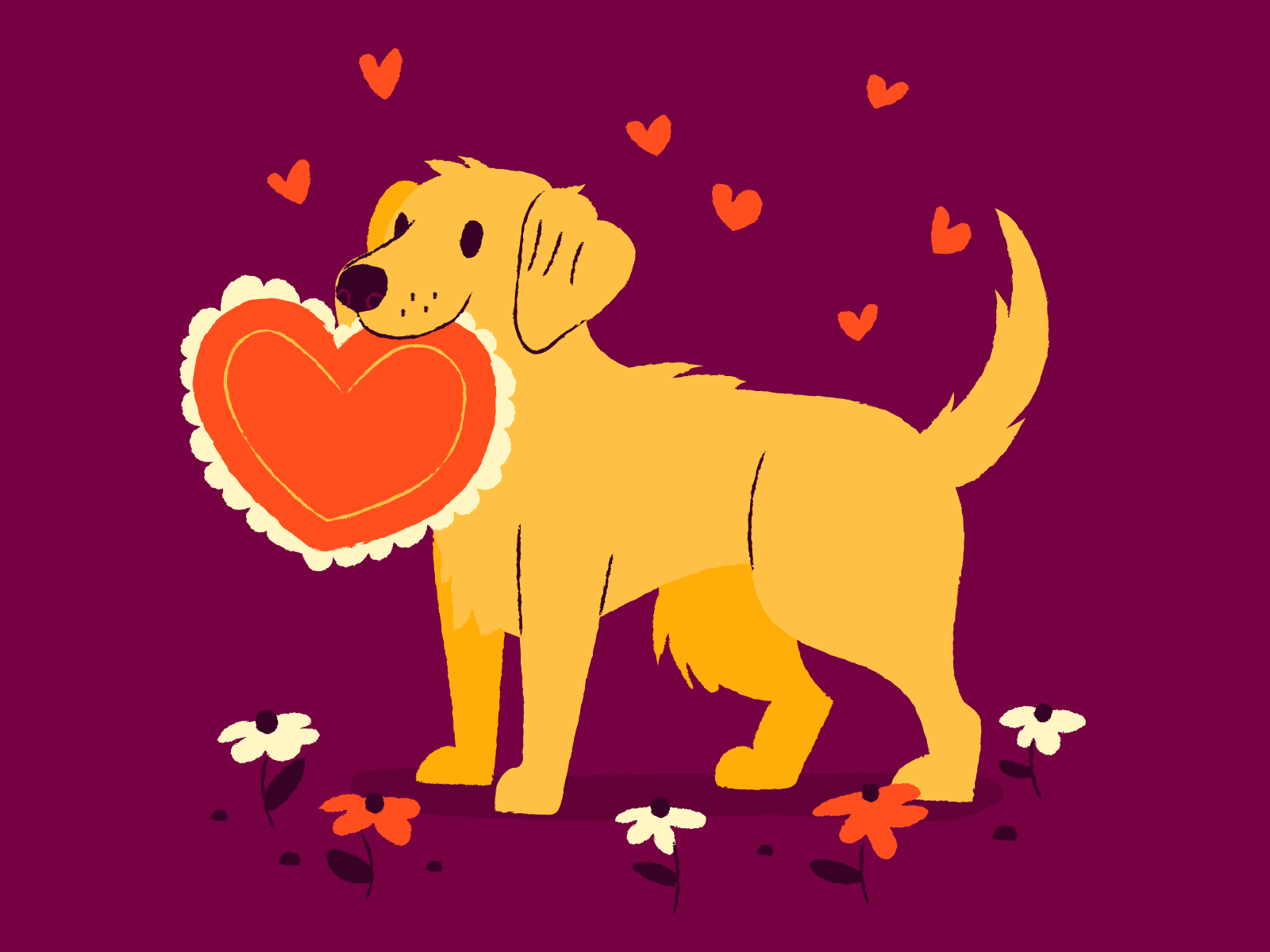 valentine day love dog