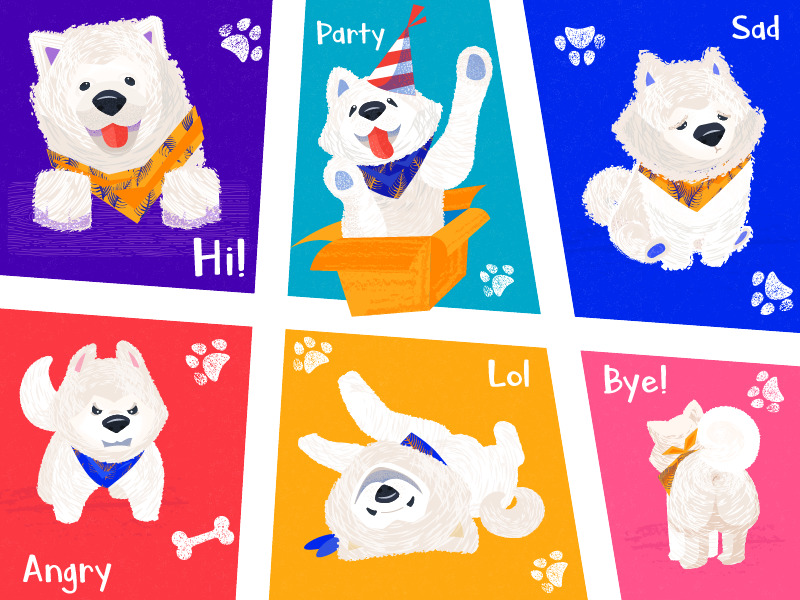 nord funny dog stickers tubik_design