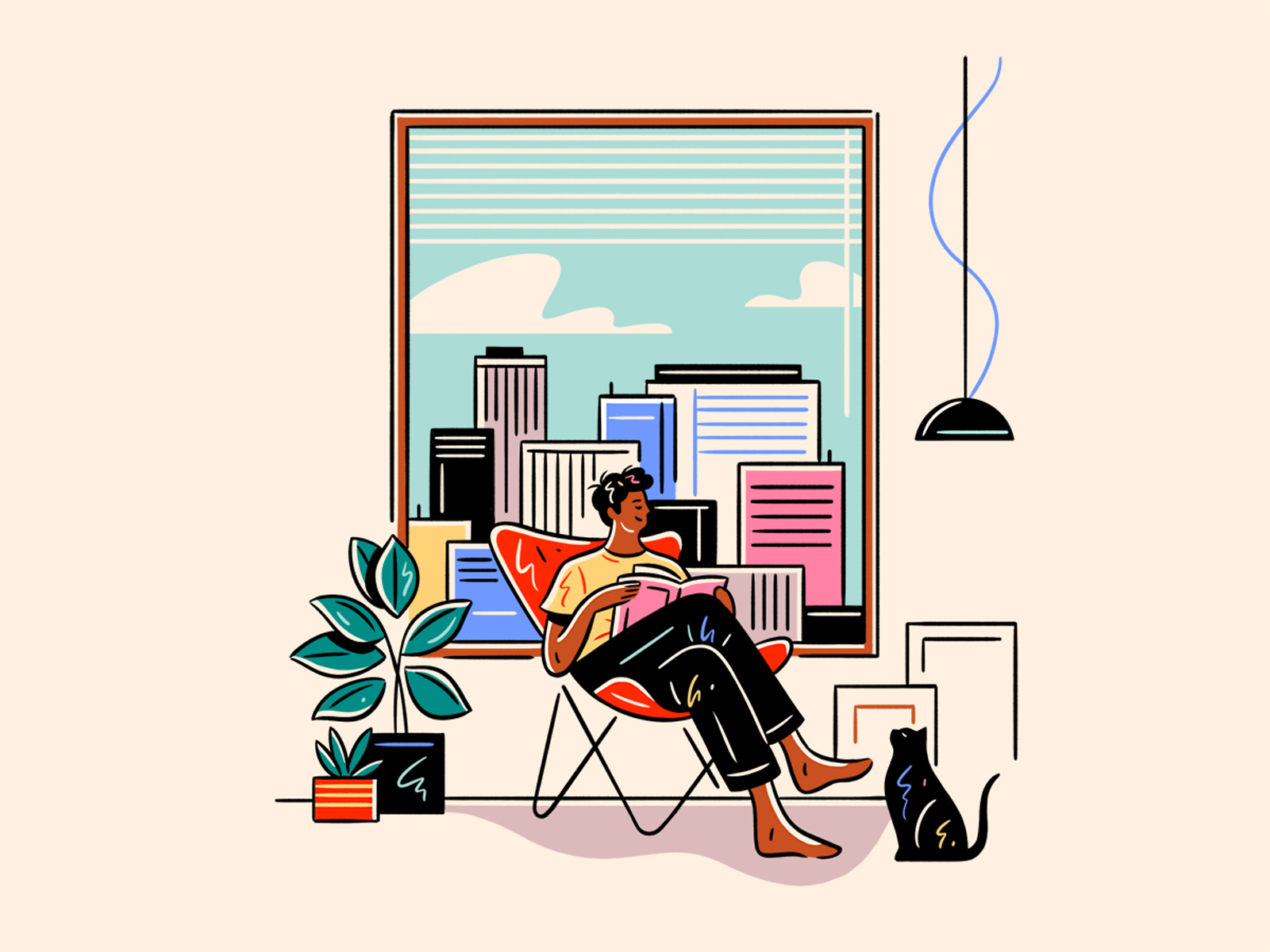 stay home illustration