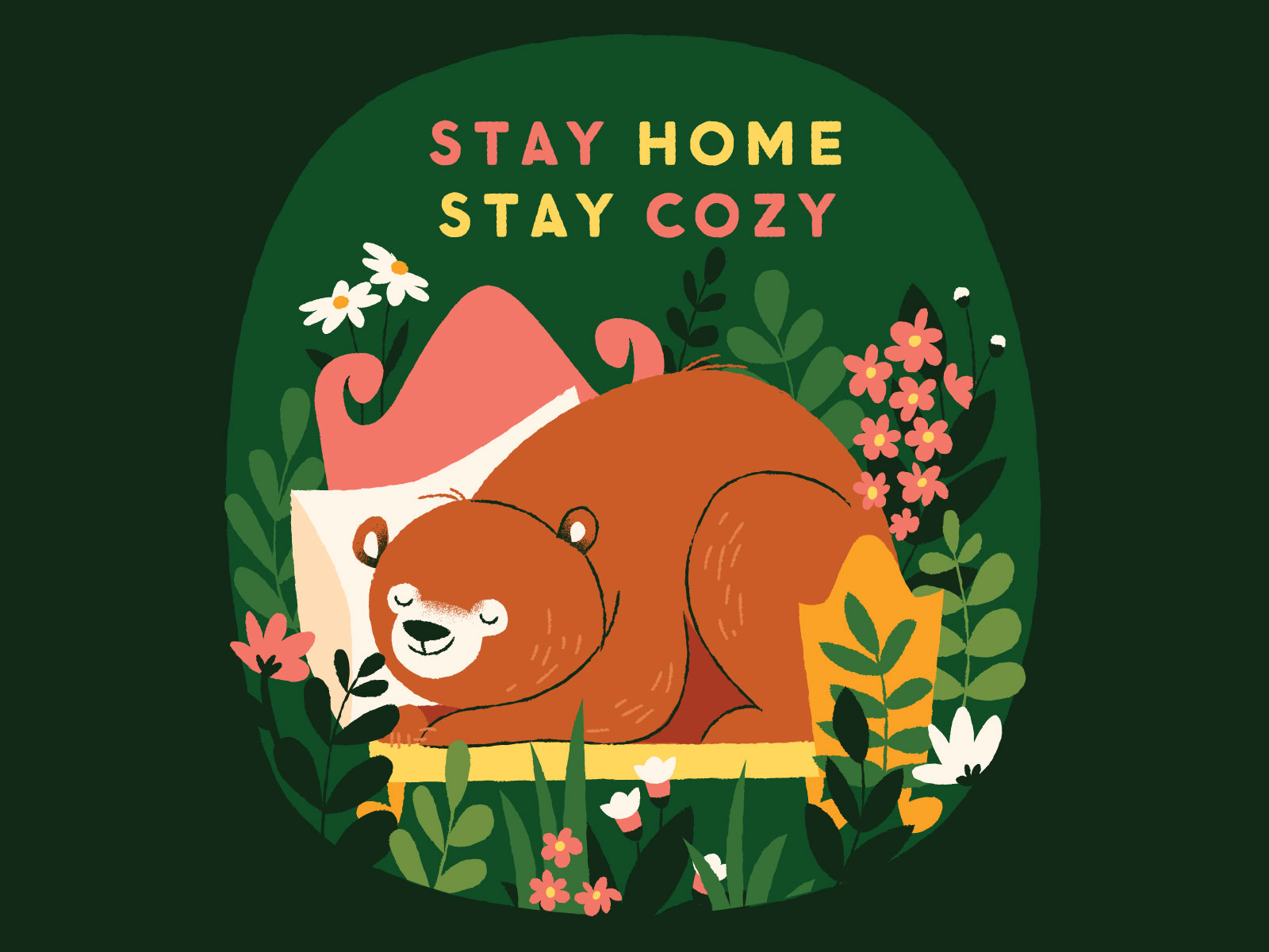 stay home nature illustration