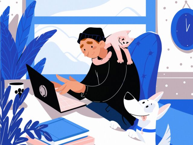 Stay Safe, Stay Home: Digital Illustrations About Life and Work in Isolation