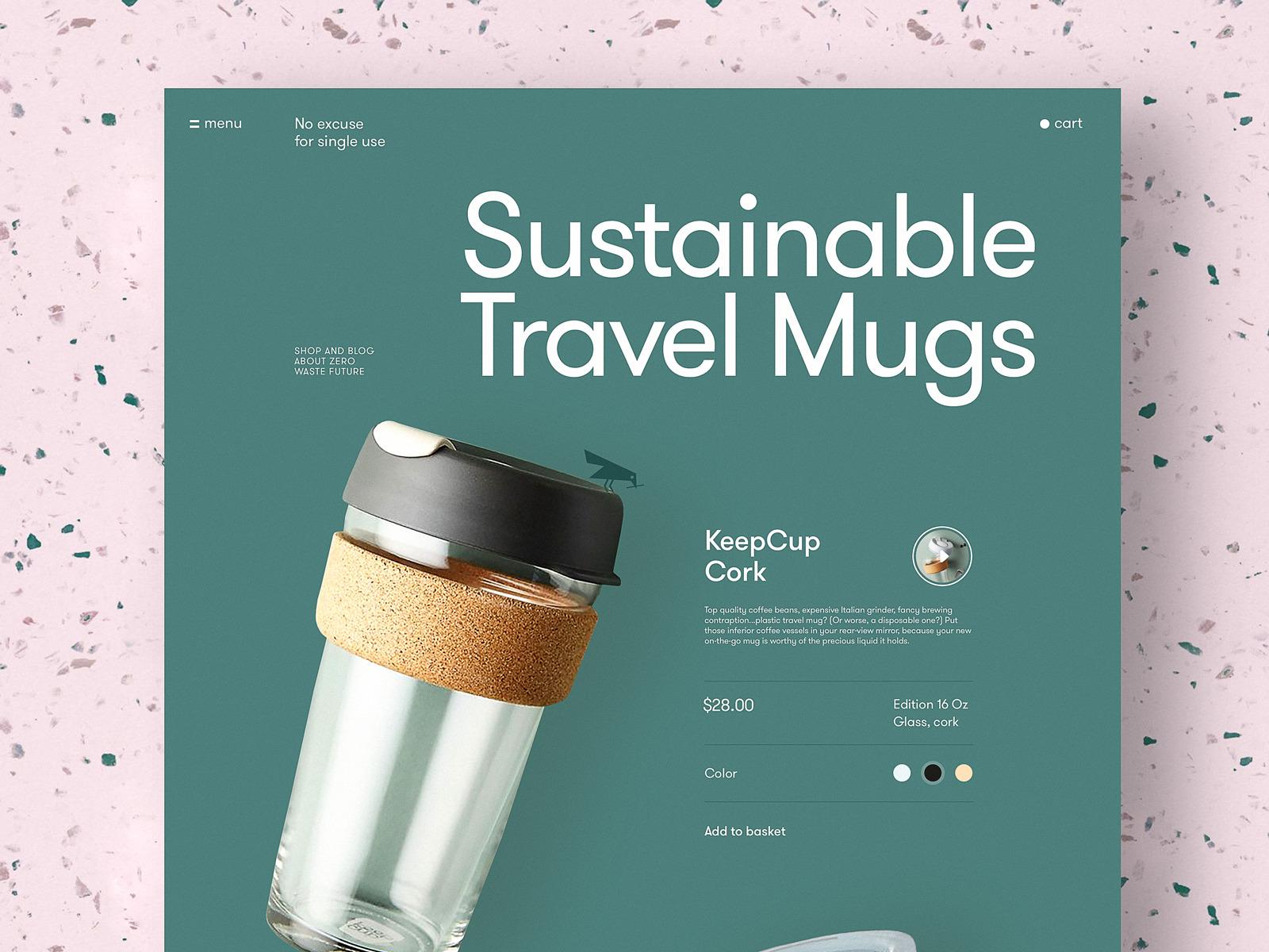 zero waste website page tubik