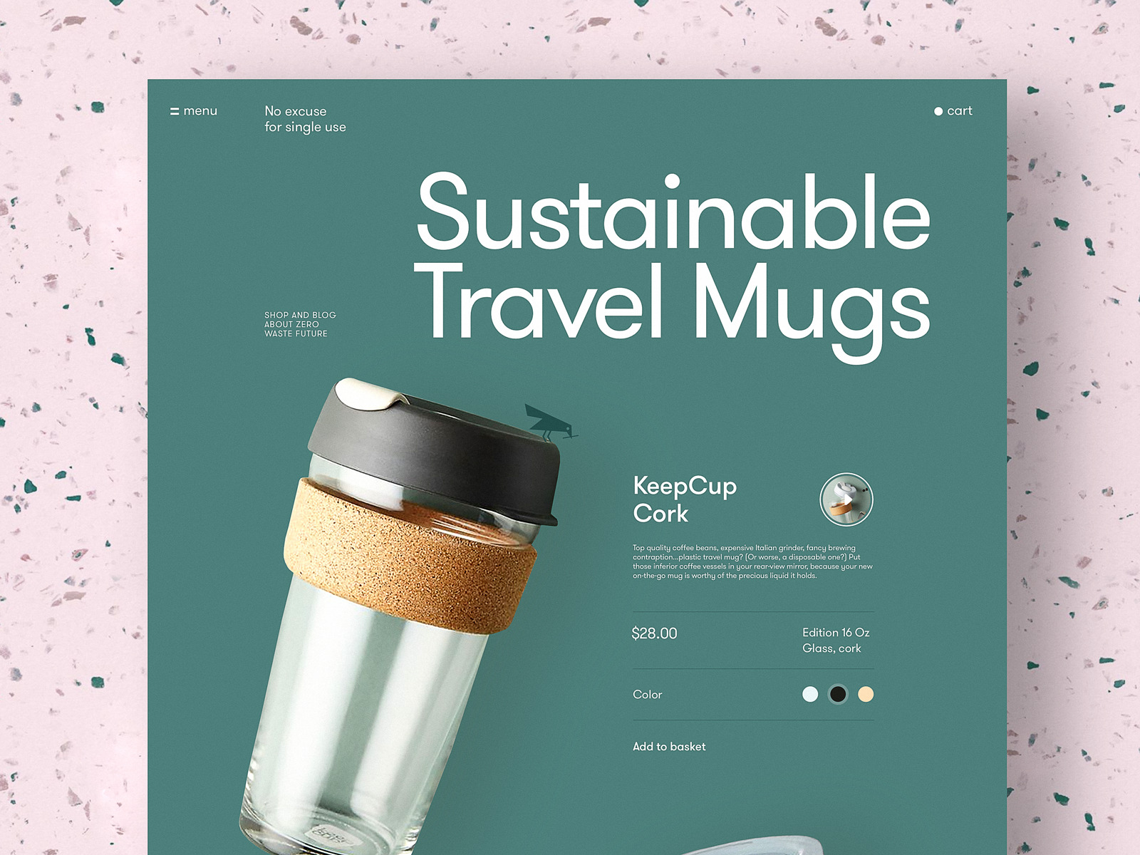zero waste website page tubik
