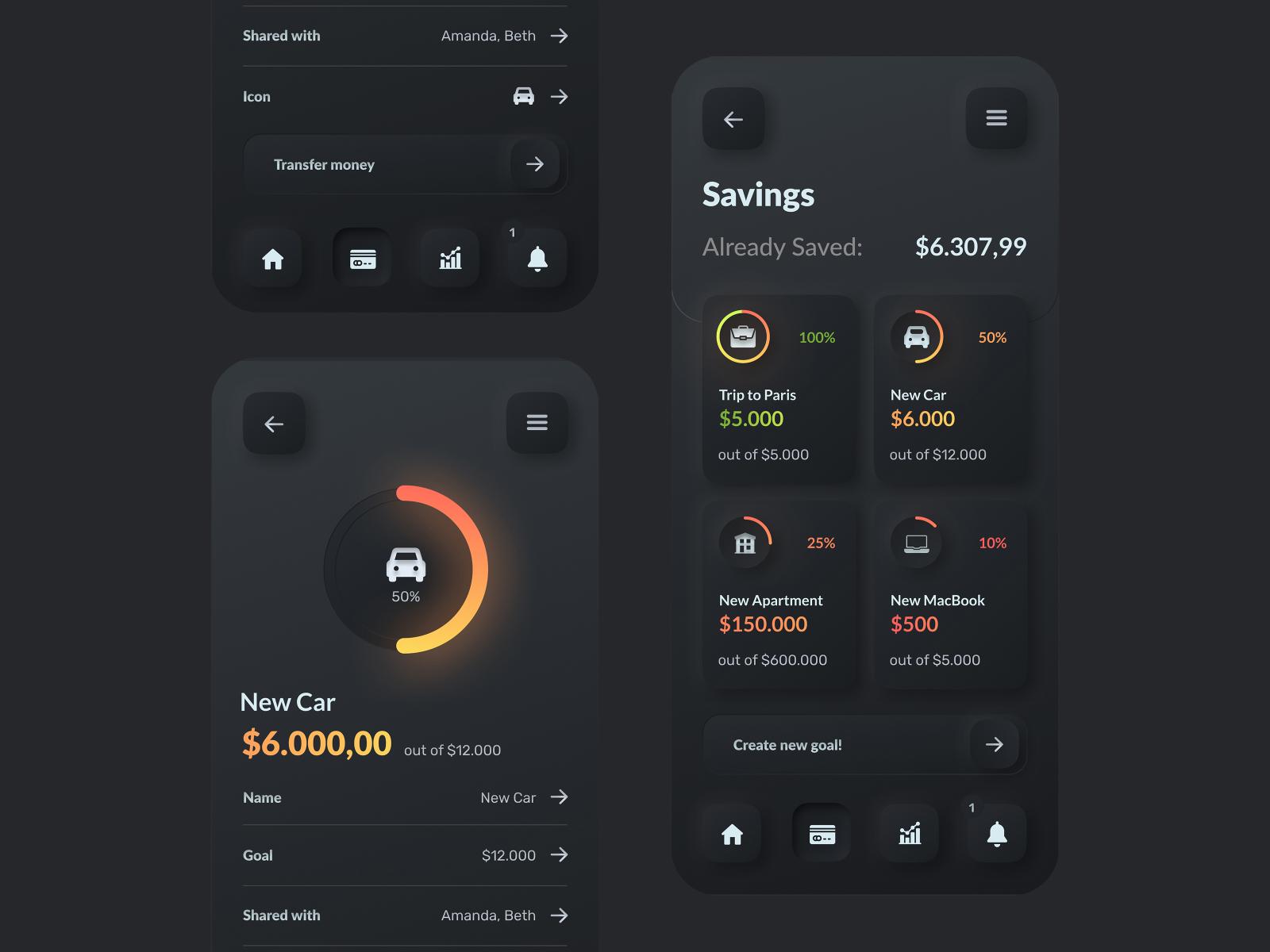 banking ui app design