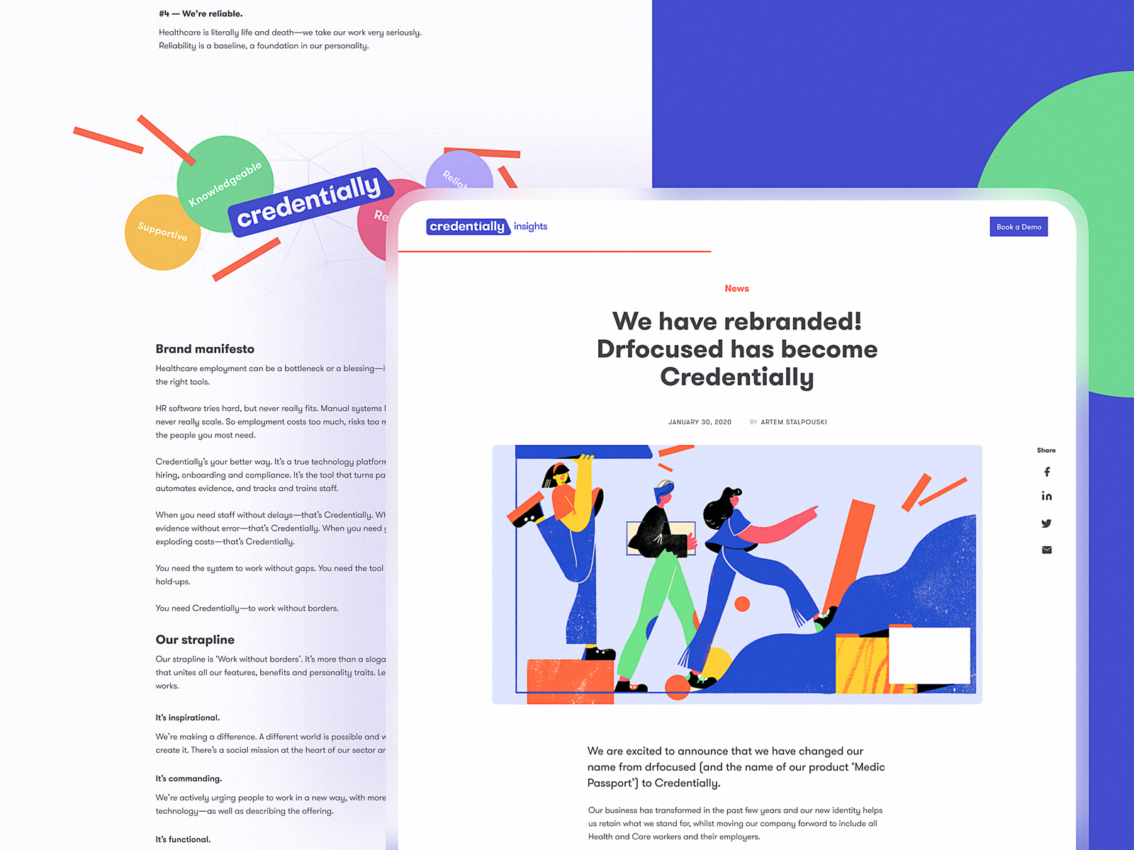 credentially blog design tubik studio