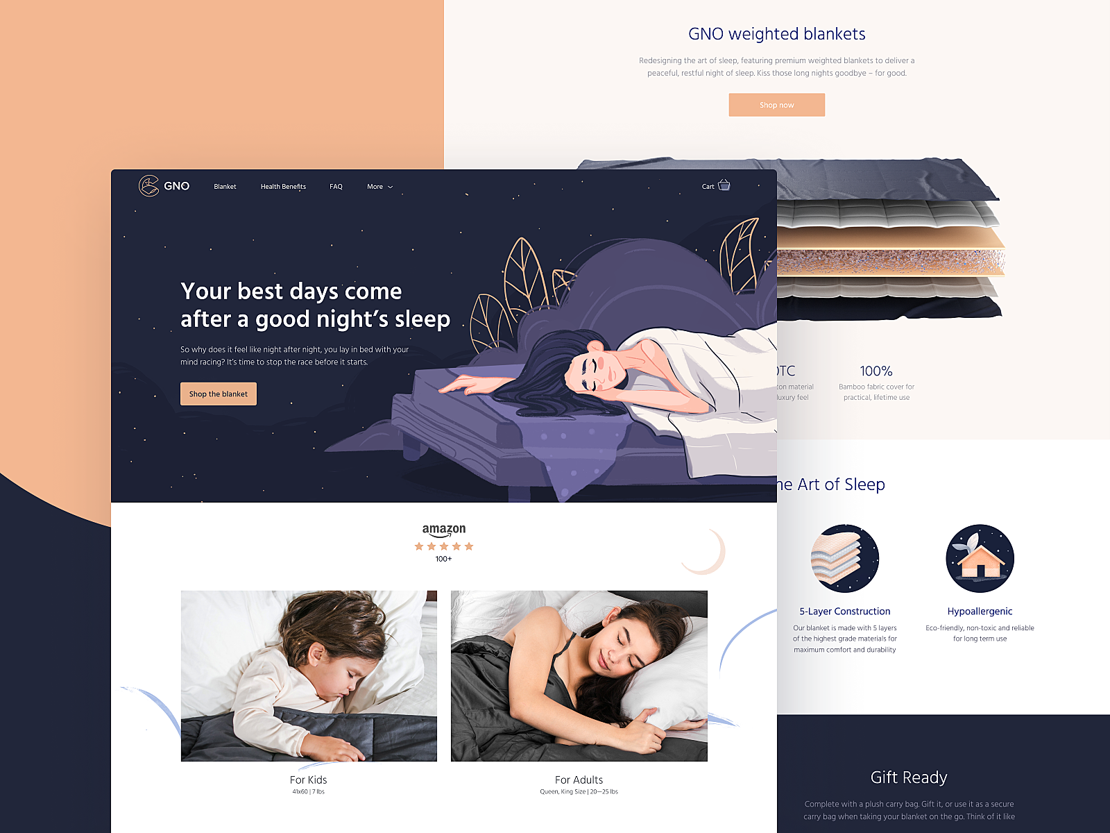 gno blankets website design