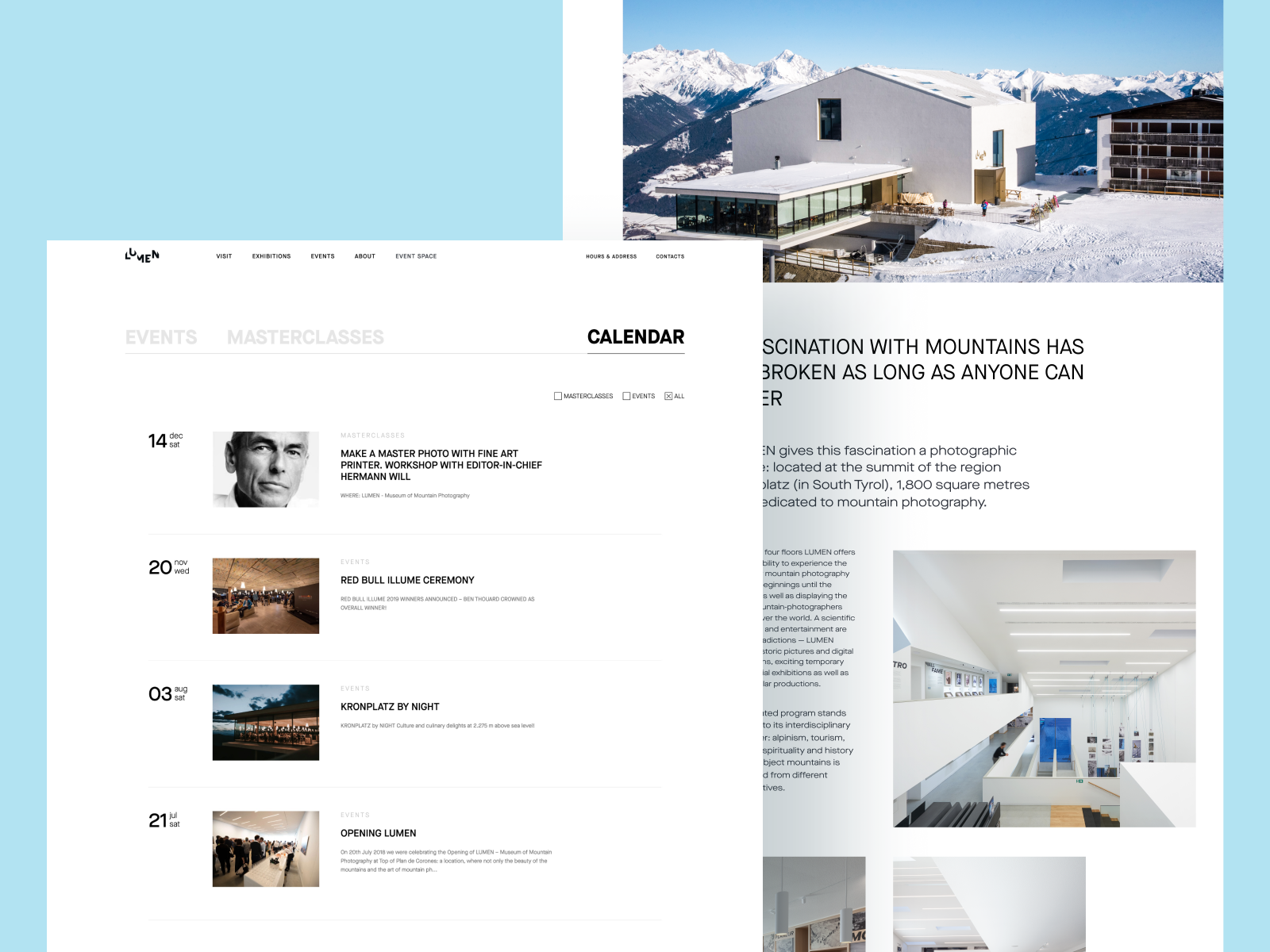 lumen museum website design