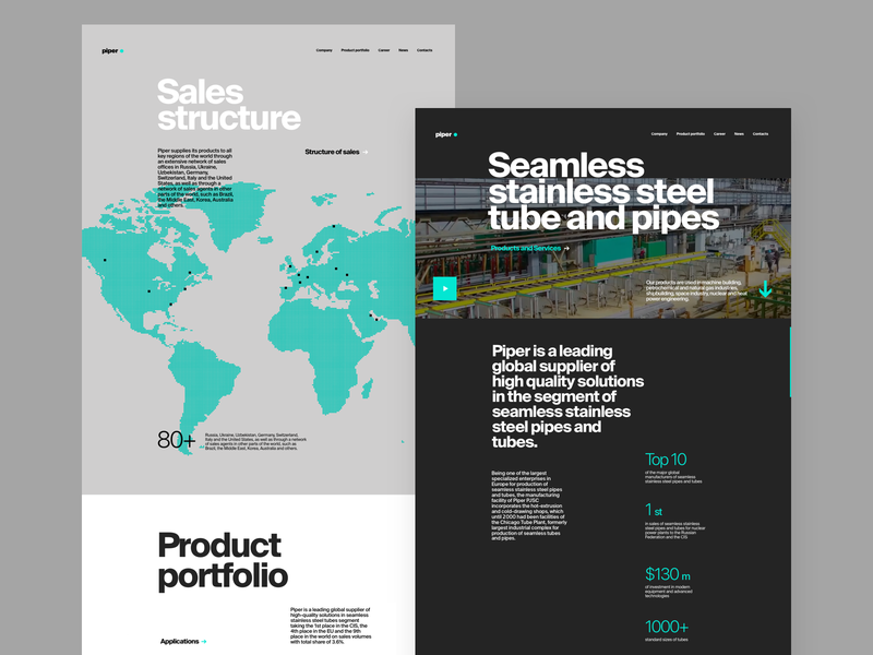 metal plant website design tubik