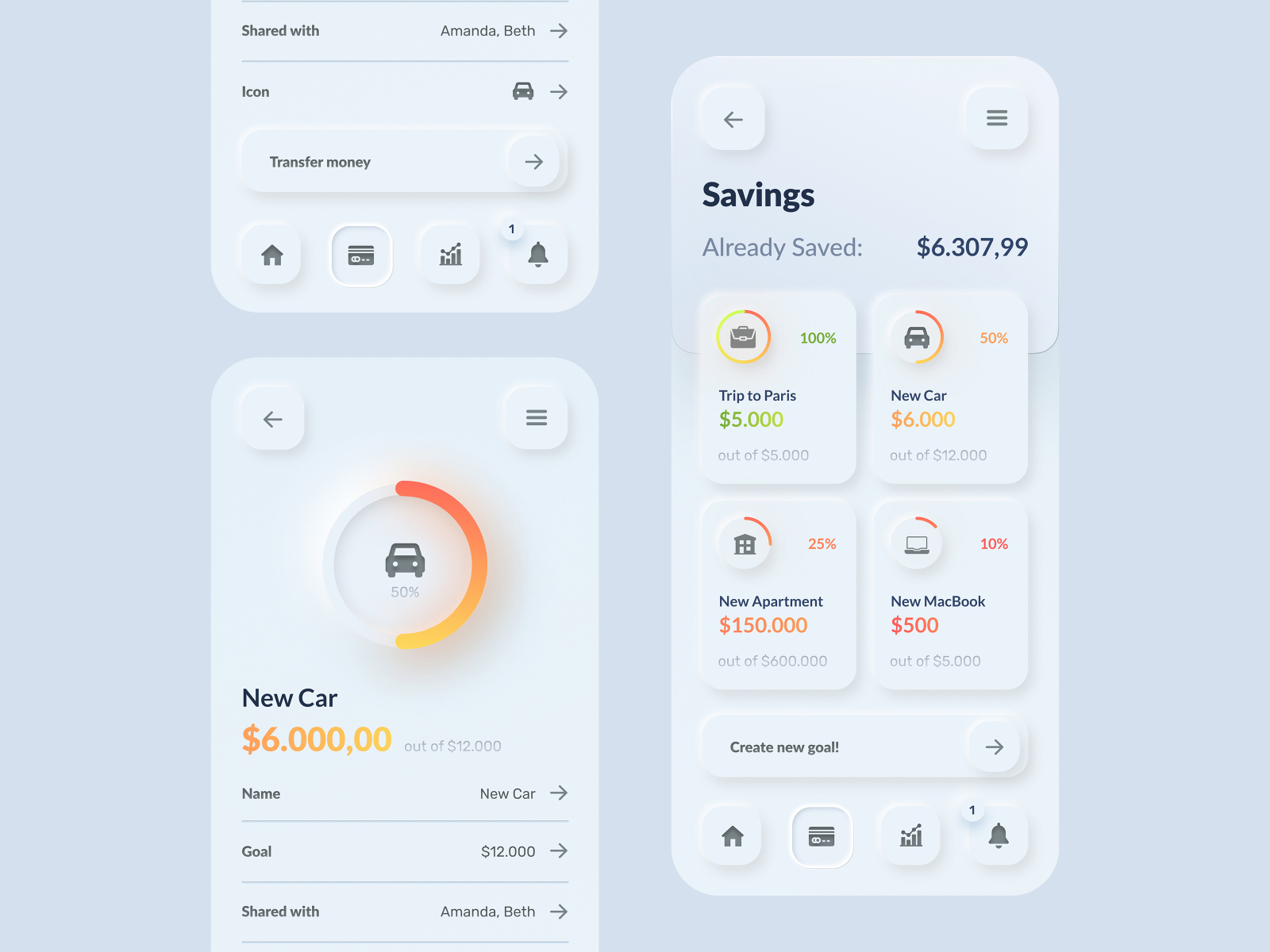 wallet baking app design