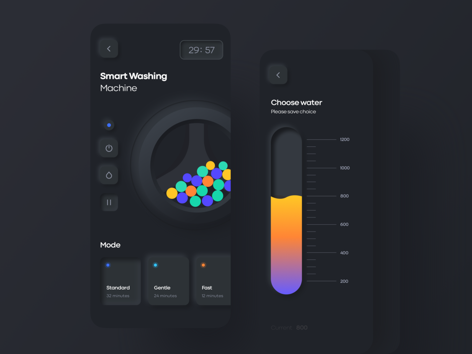 washing machine app design