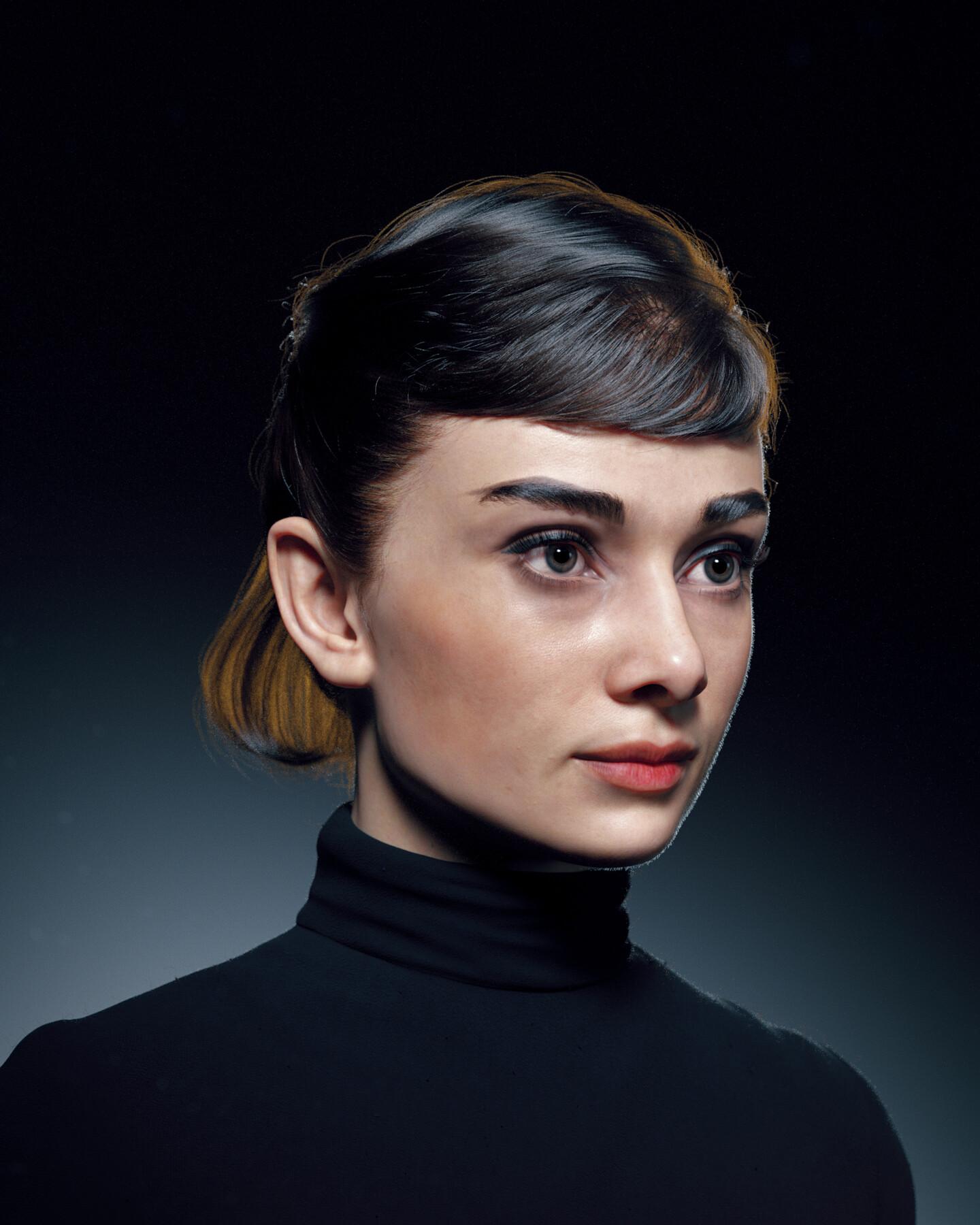 hadi karimi audry hepburn 3D portrait