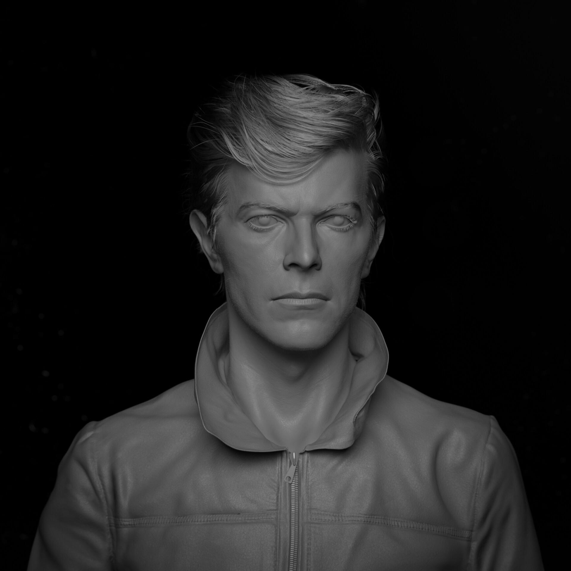 hadi karimi david bowie 3D portrait