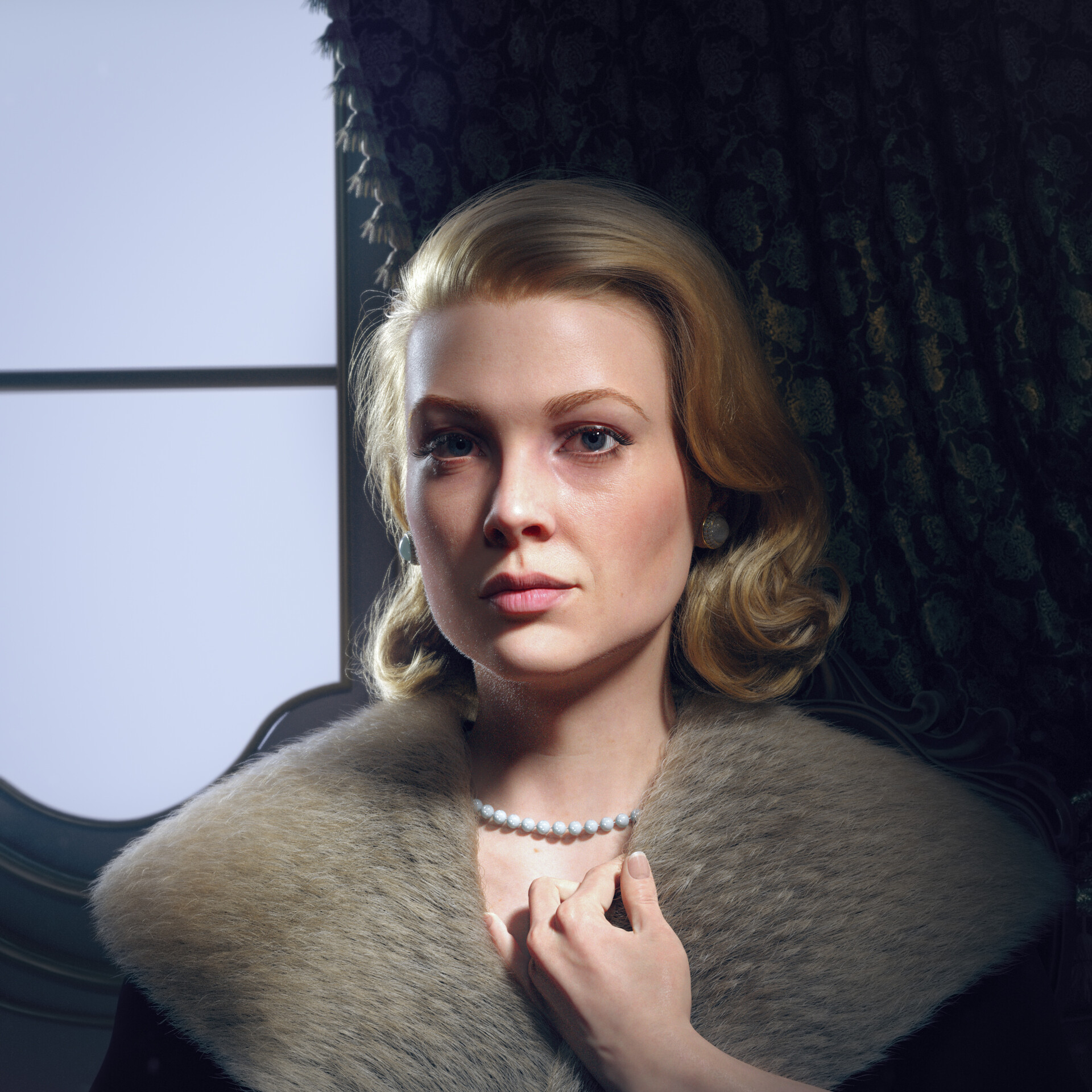 hadi karimi grace kelly 3D portrait