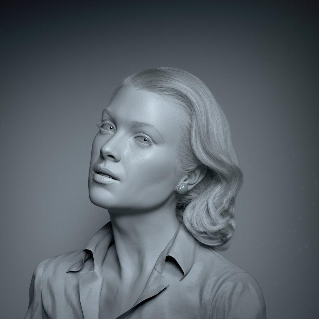 hadi karimi grace kelly 3D portrait